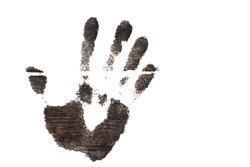 handprint on a white background