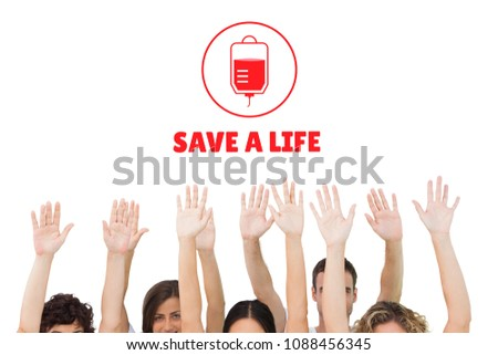 Hands and blood donation concept