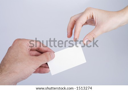 hands and  card