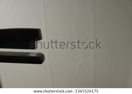 Hands and Stapler with room for copy space