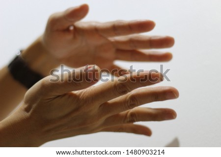 Hands are shaping in  parallel  #1480903214