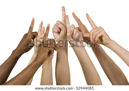 hands come together for number one sign