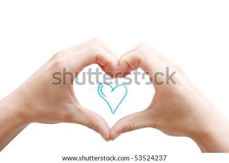 Hands creating a heart #53524237