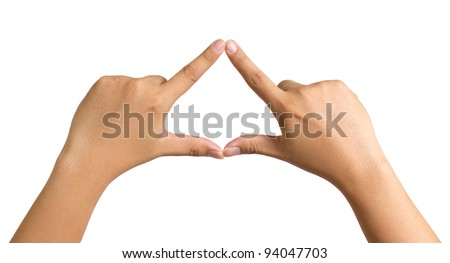hands forming triangle