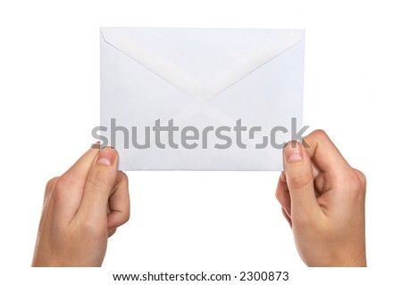 hands  holding mail