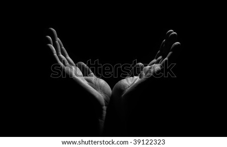 hands in the dark