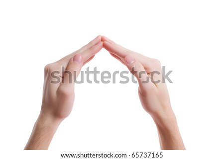 Hands in the shape of house
