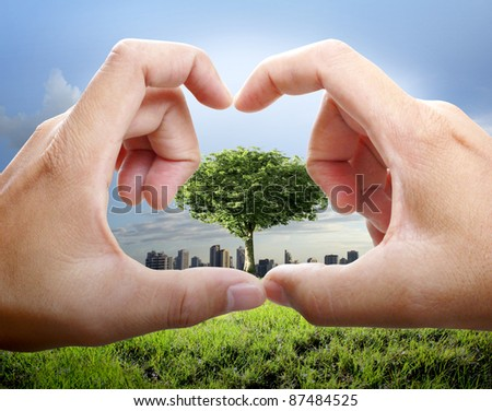 hands join to form a heart