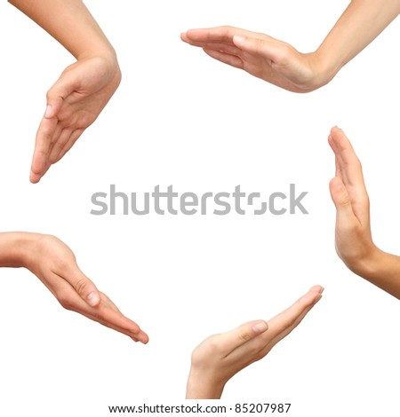 Hands making a circle isolated