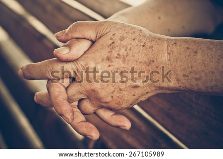 hands of a female elderly