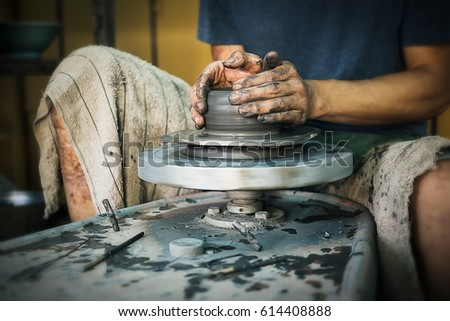 Free Photos Craftsman Making Vase From Fresh Wet Clay On Pottery