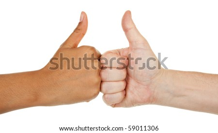 hands of different color with different gestures