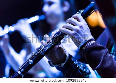 hands on clarinet Сток-фото ©