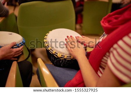 Hands on the drum. Drum. Playing the drum.