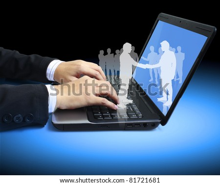 hands on the laptop keyboard