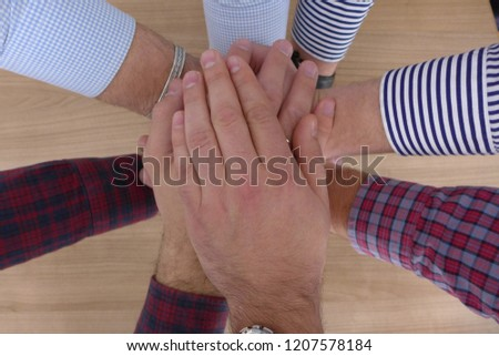 Hands People Human Team Building Game Cross Crossing Together Fingers