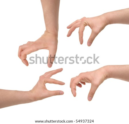 hands photo with clipping paths