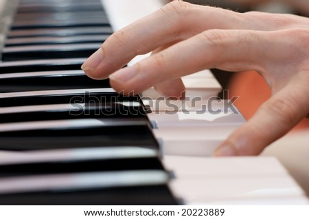 hands pianist playing music on the piano, hands and piano player, keyboard
