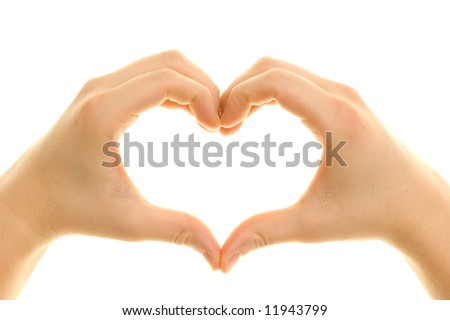 Hands shaping a heart