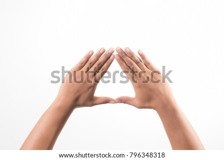 Hands showing the triangle sign #796348318