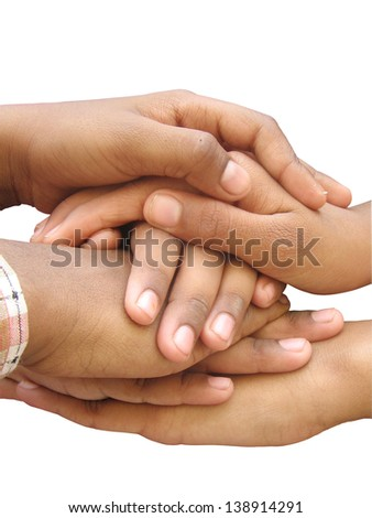 Hands showing their power of unity