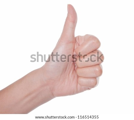hands showing thumb up