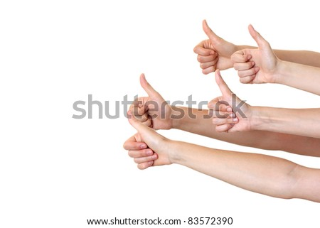 Hands showing your product isolated