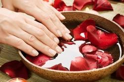 Hands Spa.Manicure concept