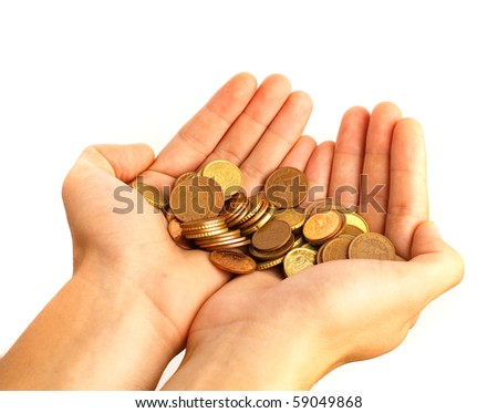 hands with money