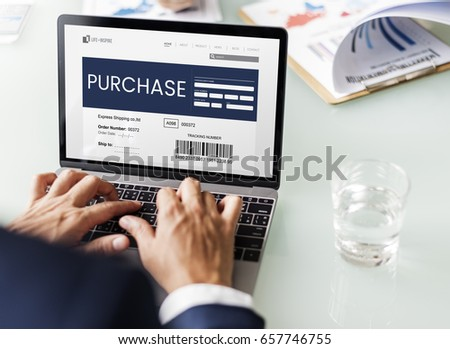 Hands working on laptop network graphic overlay #657746755