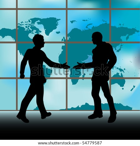 Handshake Bitmap Background - stock photo