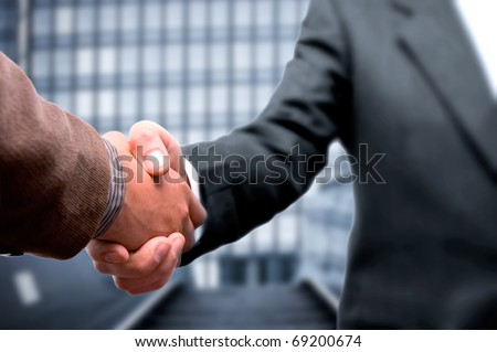 Handshake business concept