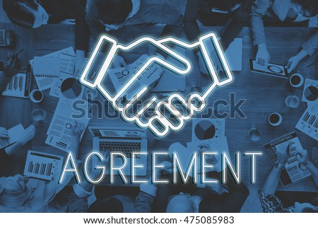 Handshake Deal Agreement Corporate Business Concept #475085983