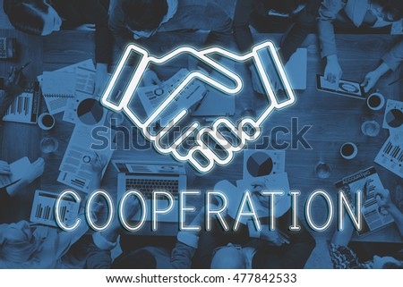 Handshake Deal Agreement Corporate Business Concept #477842533