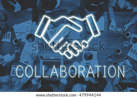 Handshake Deal Agreement Corporate Business Concept #479944144