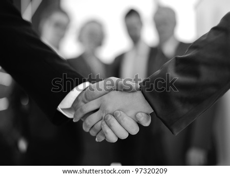 Handshake for making a successful deal