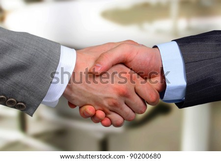 Handshake - Hand holding - stock photo