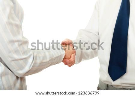 Handshake , isolated on white background
