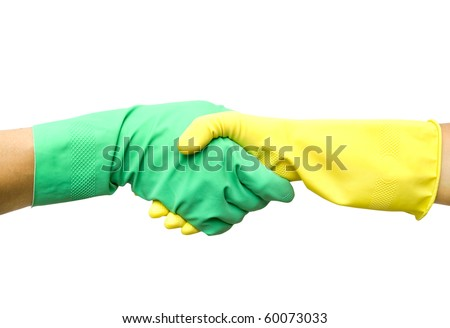 Handshake of man's and woman's hands