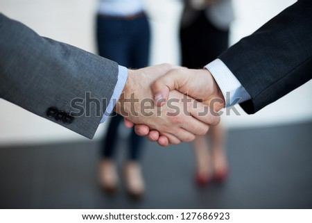 Handshake  of two businessman.