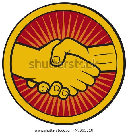 handshake symbol (emblem, symbol, sign)