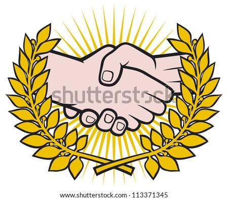 handshake symbol (handshake emblem, handshake symbol, handshake sign)