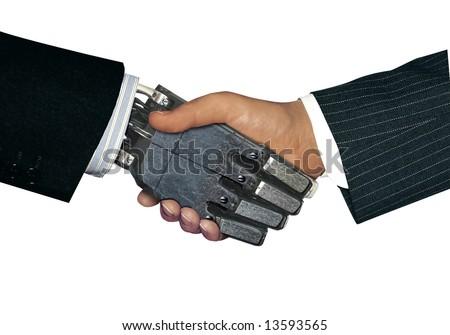 handshake with robot