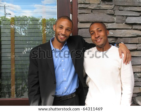 Handsome African American Men at Business Meeting Photo Looking at You