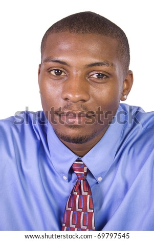 Handsome Black Businessman - Isolated background