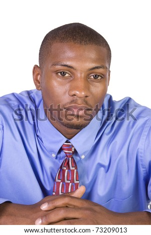 Handsome Black Businessman - Isolated background