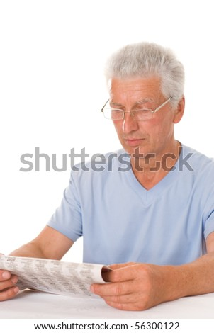 handsome businessman read the newspaper - stock photo