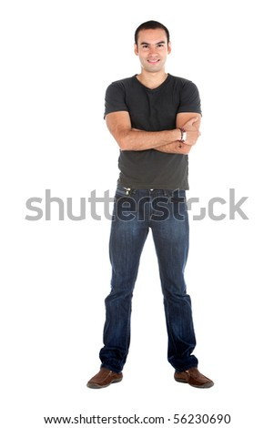 Handsome casual man - isolated over a white background