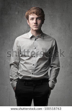 Handsome elegant young man