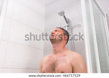Guy Taking Shower